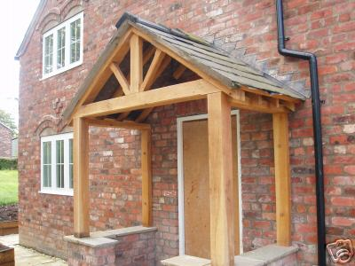The pictures below show an older design of porch but give you an idea what they look like in-situ. & CWL oak structures